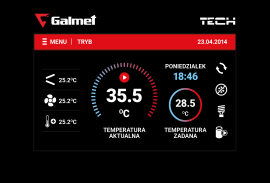 Galmet - Regulator pokojowy do pompy ciepła Spectra - RP 530